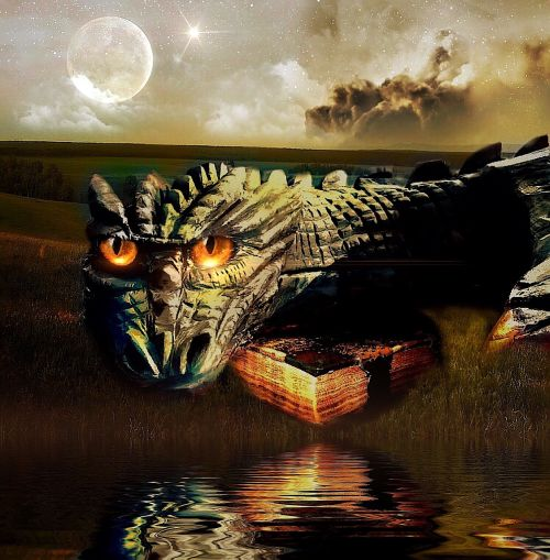 dragon book fire-breathing dragon