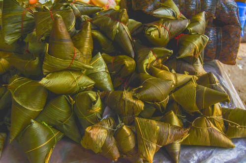 dragon boat festival dumplings pile