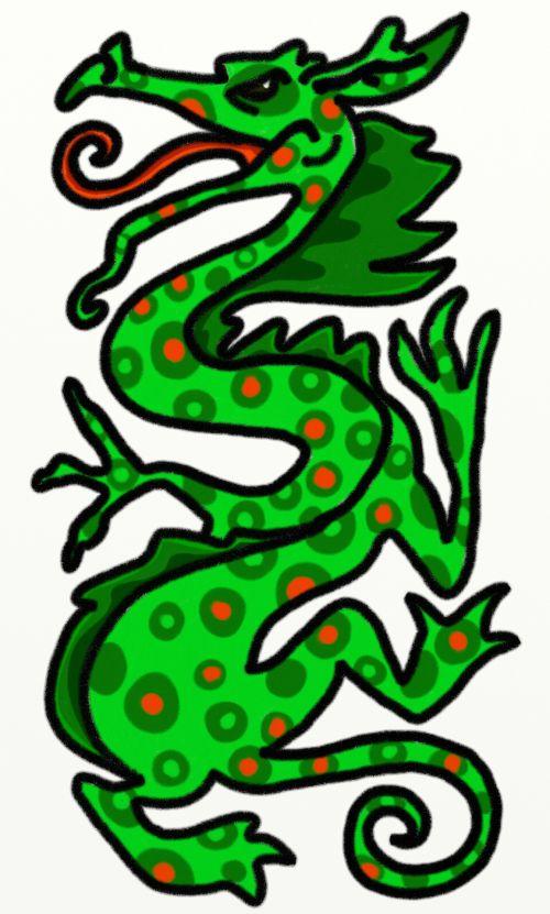 Dragon Chalk Drawing