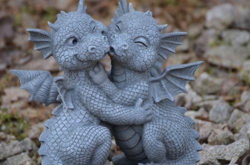 dragons stone figure sculpture
