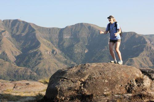 drakensberg hiking happy