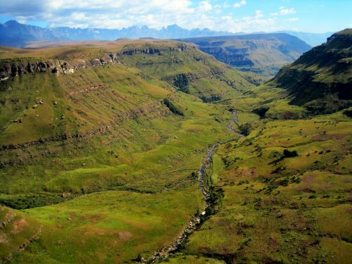 Drakensberg With Green Valley