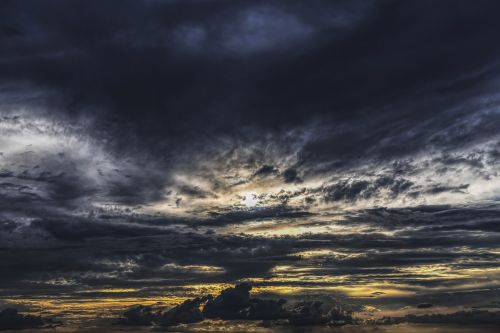 dramatic clouds sky