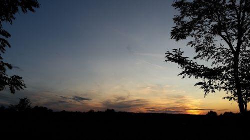dramatic cloudscape sunset