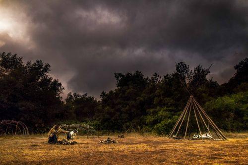 dramatic clouds camp