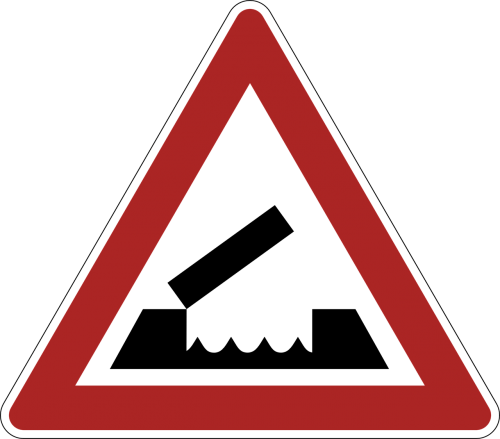 drawbridge danger warning