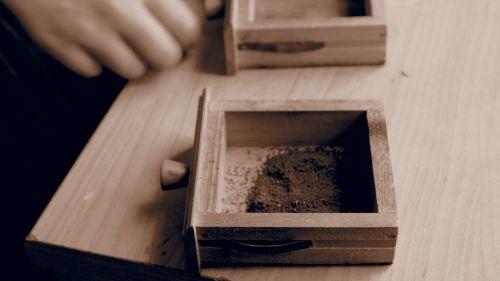drawer coffee brown