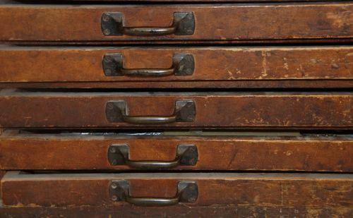 drawers old antique