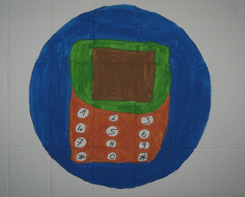 drawing students mobile phone