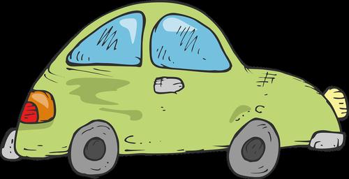 drawing  green car  childrens car