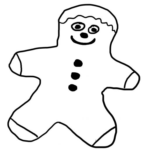 drawing gingerbread man males
