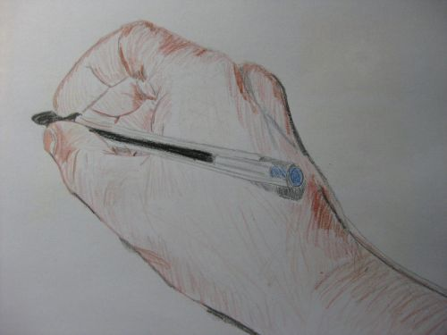 drawing hand paint