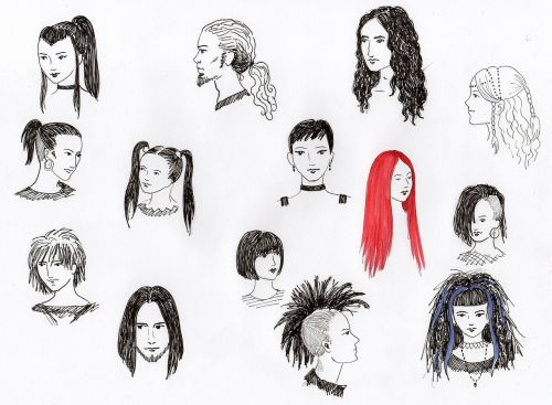 drawing hairstyles heads