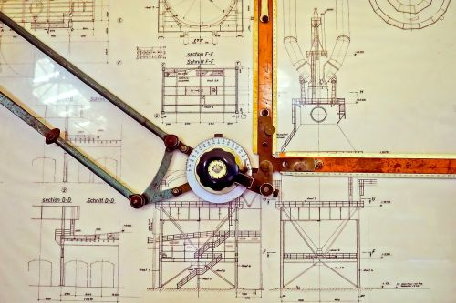drawing board technical construction