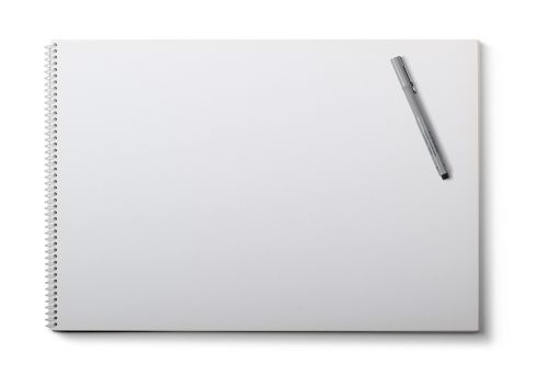 drawing pad note pad white background