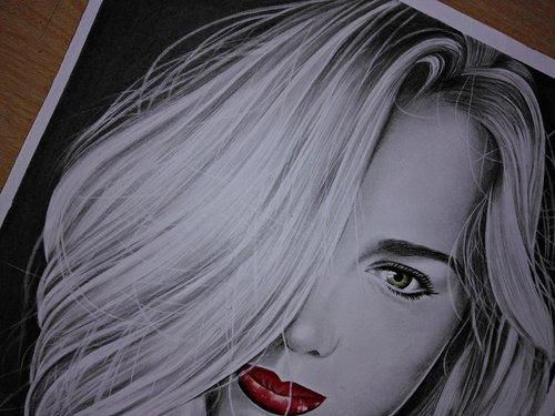 drawing realistic  designer  portrait