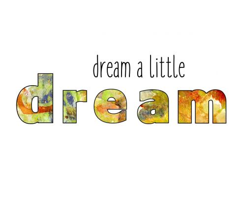 dream word art text