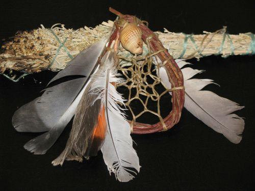 dream catcher native american smudge stick
