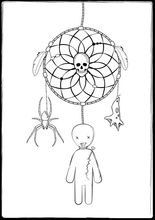dreamcatcher spider voodoo