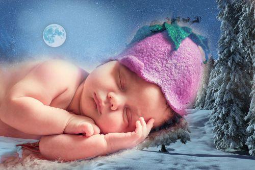 dreaming baby christmas