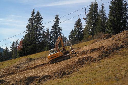 dredging excavators leveling