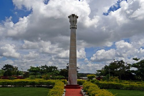 drepung gomang monastery ashoka pillar stratocumulus-clouds