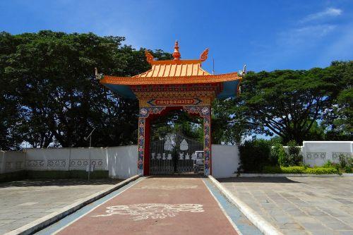 drepung gomang monastery gate mundgod india