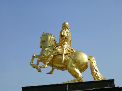 dresden rider of golden rider horse