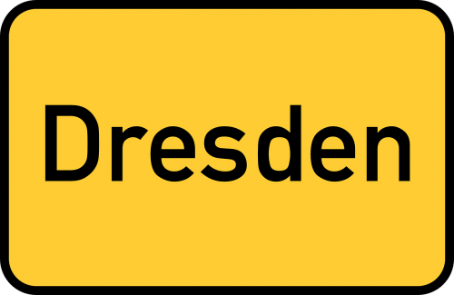 dresden town sign city limits sign
