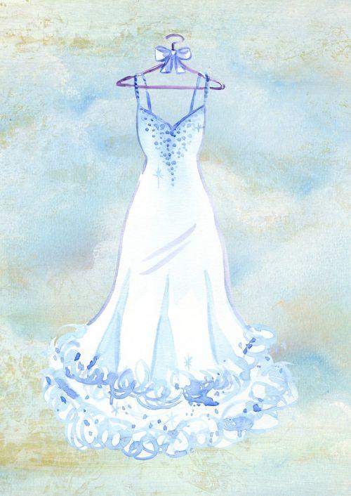 dress wedding watercolor