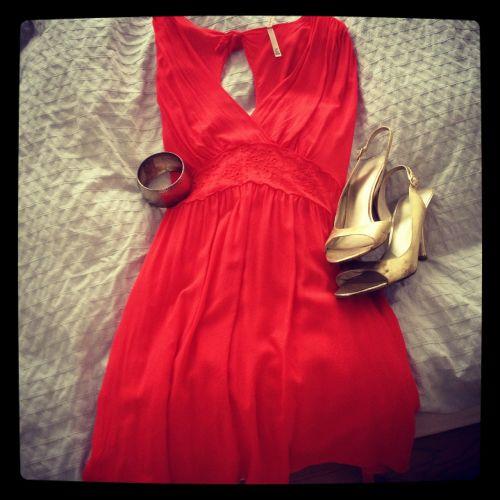 dress red fashion