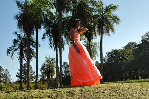 dress orange quinceanera dress
