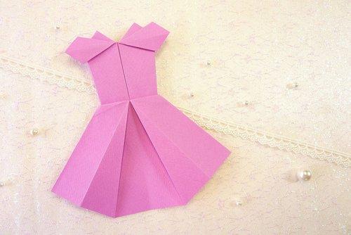 dress  origami  pink