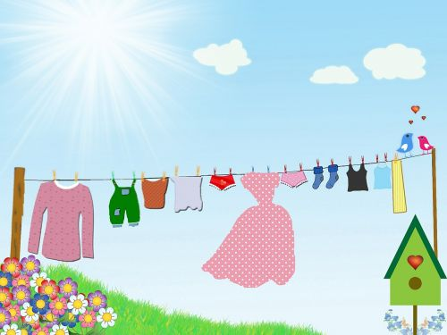 dress drying clothesline