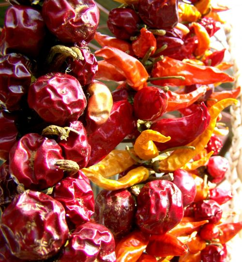 dried cherry pointed dried paprika vegetables