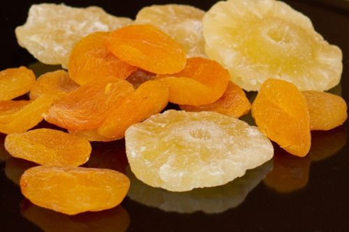 dried fruit pineapple apricots