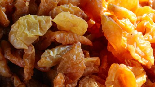 dried fruit apricots food