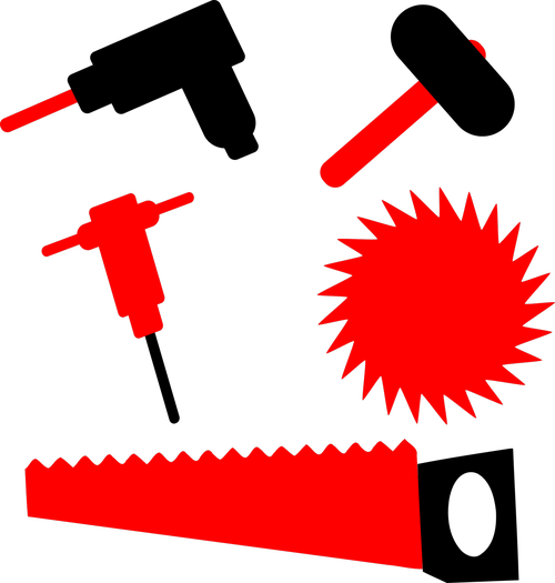 drill  hammer  sledgehammer