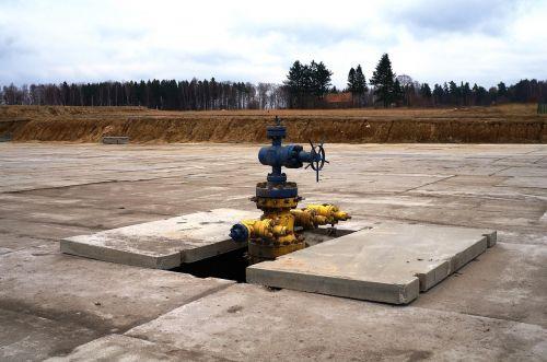 drilling rig head hole shale gas