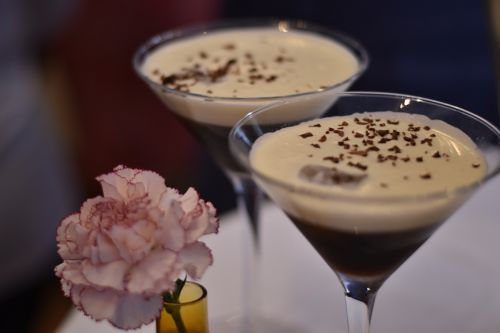 drink chocolate coctail