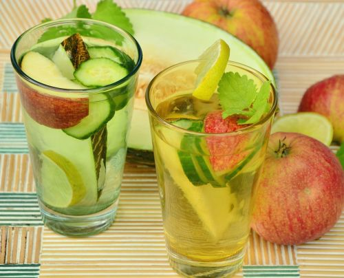 drink fruit water detox