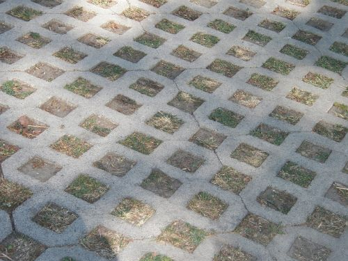 driveway square blocks pattern