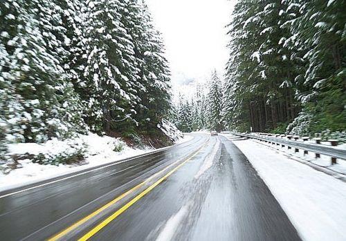 driving winter road