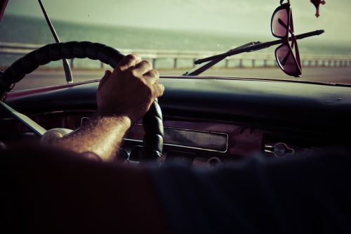 driving steering wheel dash