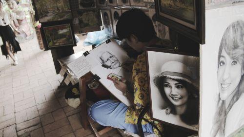 drawing artist street artist