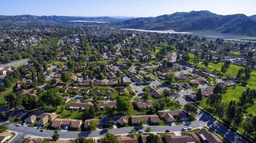 drone village aerial