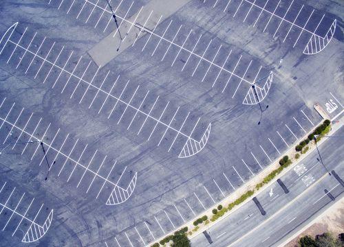 drone parking lot city