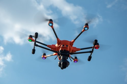 drone  thermal imaging  hexacopter