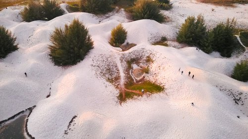 drone  aerial view  sand dunes