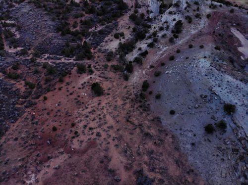 vakarų & nbsp, spalvotas, Colorado, dykuma, didelis & nbsp, dykumas, drone & nbsp, fotografija, mavic & nbsp, oras, erozija, dirvožemis, Droonas atskleidžia dirvožemio eroziją
